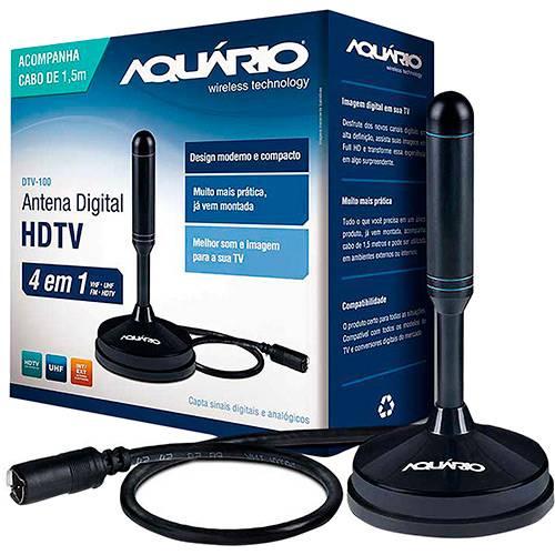 Tamanhos, Medidas e Dimensões do produto Antena Digital para TV DTV-100 VHF UHF FM e HDTV - Aquário