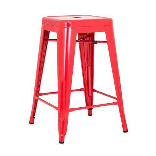 Tamanhos, Medidas e Dimensões do produto Banqueta Iron Tolix 61cm - Vermelho