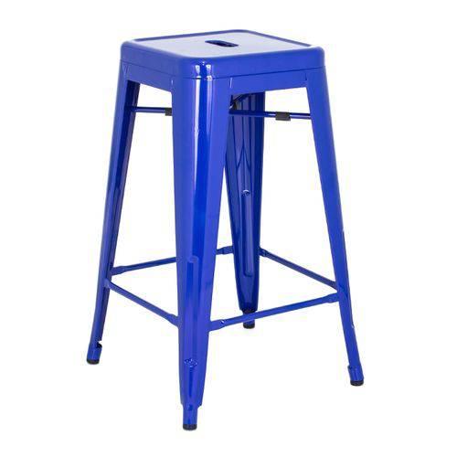 Tamanhos, Medidas e Dimensões do produto Banqueta Iron Tolix 66 Cm - Industrial - Aço - Vintage - Azul Escuro