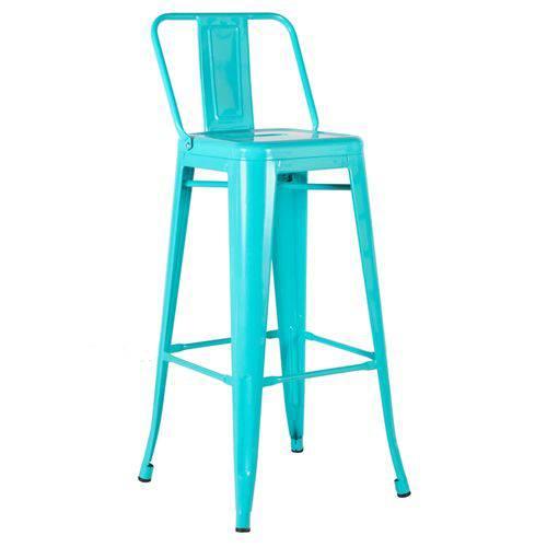 Tamanhos, Medidas e Dimensões do produto Banqueta Iron Tolix 76 Cm com Encosto - Azul Tiffany