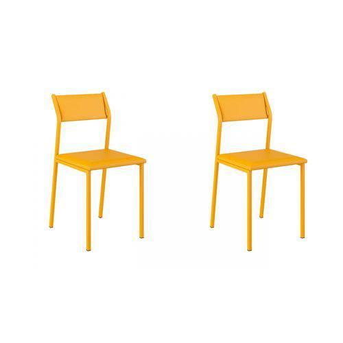 Tamanhos, Medidas e Dimensões do produto Cadeira 1709 02 Unidades Carraro | Cor: Amarela