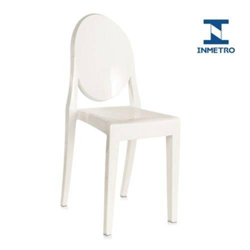 Tamanhos, Medidas e Dimensões do produto Cadeira Acrílica Victoria Ghost - Miss Sophia - Branco Off White