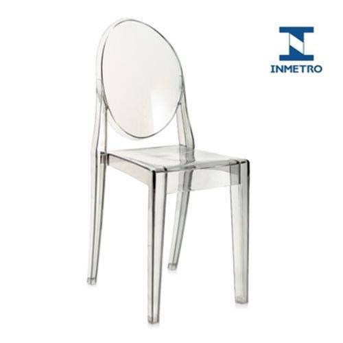 Tamanhos, Medidas e Dimensões do produto Cadeira Acrílica Victoria Ghost - Miss Sophia - Fumê