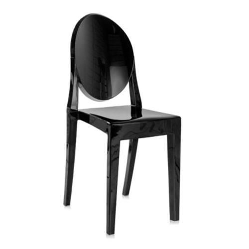 Tamanhos, Medidas e Dimensões do produto Cadeira Acrílica Victoria Ghost - Miss Sophia - Preto