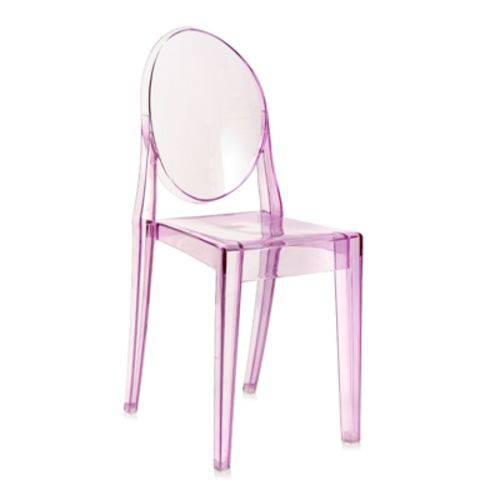 Tamanhos, Medidas e Dimensões do produto Cadeira Acrílica Victoria Ghost - Miss Sophia - Roxo