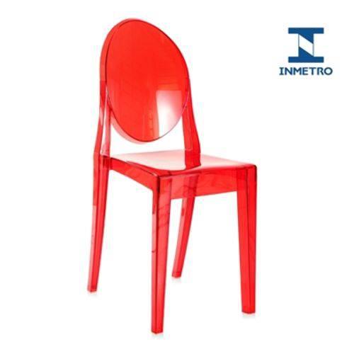 Tamanhos, Medidas e Dimensões do produto Cadeira Acrílica Victoria Ghost - Miss Sophia - Vermelho Translúcido