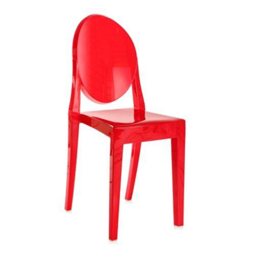 Tamanhos, Medidas e Dimensões do produto Cadeira Acrílica Victoria Ghost - Miss Sophia - Vermelho