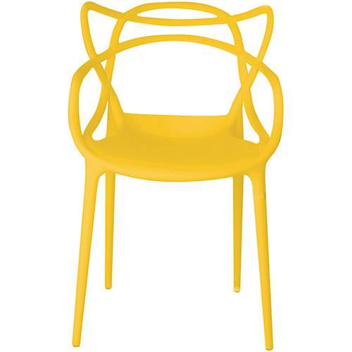 Tamanhos, Medidas e Dimensões do produto Cadeira Allegra Amarela - Rivatti