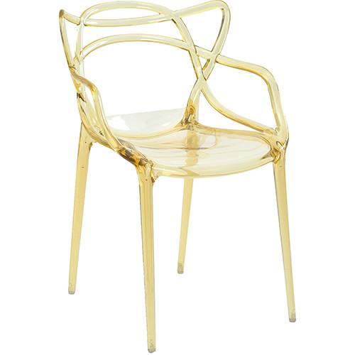 Tamanhos, Medidas e Dimensões do produto Cadeira Allegra Policarbonato Amarelo Translúcido - Rivatti