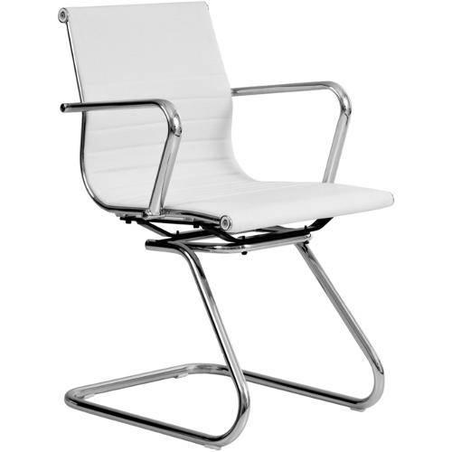 Tamanhos, Medidas e Dimensões do produto Cadeira Base Fixa em Pu Branca