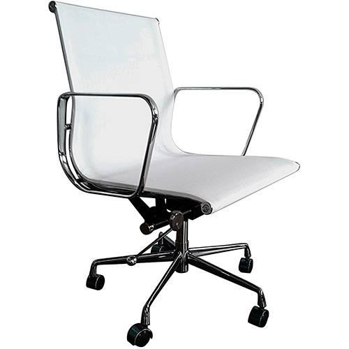 Tamanhos, Medidas e Dimensões do produto Cadeira Executiva Bergamo Giratória Branca - Ecadeiras