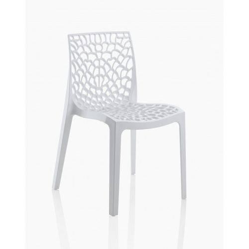 Tamanhos, Medidas e Dimensões do produto Cadeira Gruvyer Polipropileno Branca
