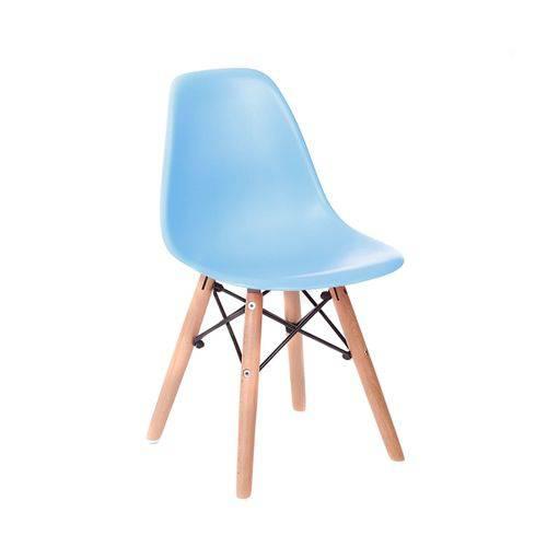 Tamanhos, Medidas e Dimensões do produto Cadeira Infantil Eames Junior - Azul com Base de Madeira Natural