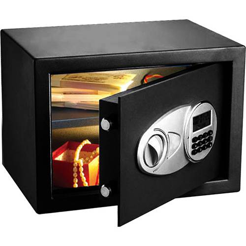 Tamanhos, Medidas e Dimensões do produto Cofre Eletrônico 25 com Tela em LED EDI (25x35x25cm) - Safewell