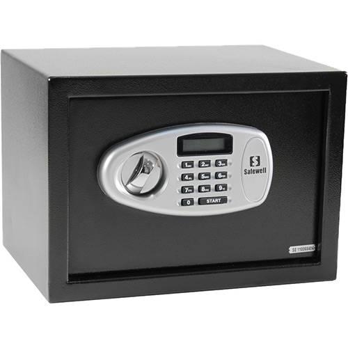 Tamanhos, Medidas e Dimensões do produto Cofre Eletrônico 25 Mb com Tela em Led (25x35x25cm) - Safewell