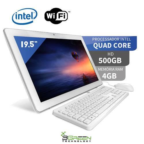 Tamanhos, Medidas e Dimensões do produto Computador All In One 19.5 Intel Quad Core 4GB 500GB Wifi Webcam Alto Falante 3green