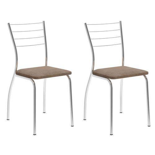 Tamanhos, Medidas e Dimensões do produto Conjunto 2 Cadeiras 1700 Camurça Conhaque