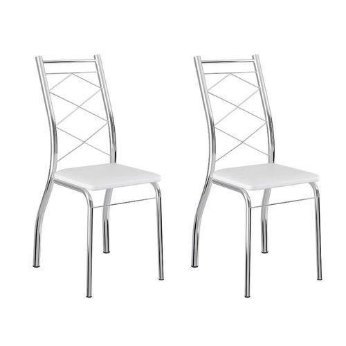 Tamanhos, Medidas e Dimensões do produto Conjunto 2 Cadeiras 1710 Branca