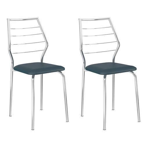 Tamanhos, Medidas e Dimensões do produto Conjunto 2 Cadeiras 1716 Casual Napa Azul Noturno Cromado