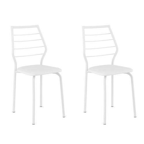 Tamanhos, Medidas e Dimensões do produto Conjunto 2 Cadeiras 1716 Casual Napa Branco Branco