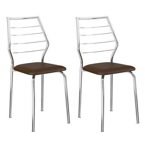 Tamanhos, Medidas e Dimensões do produto Conjunto 2 Cadeiras 1716 Casual Napa Cacau Cromado
