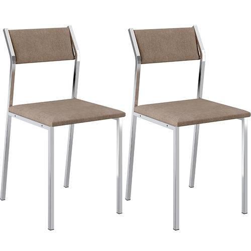 Tamanhos, Medidas e Dimensões do produto Conjunto de 2 Cadeiras 1709 Camurça – Carraro - Camurça Conhaque