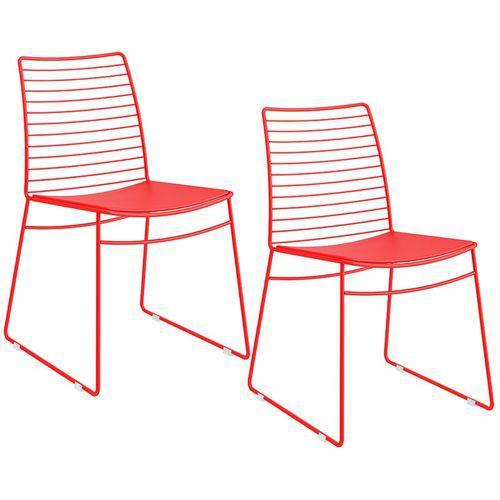 Tamanhos, Medidas e Dimensões do produto Conjunto de 2 Cadeiras 1712 – Carraro - Vermelho Real