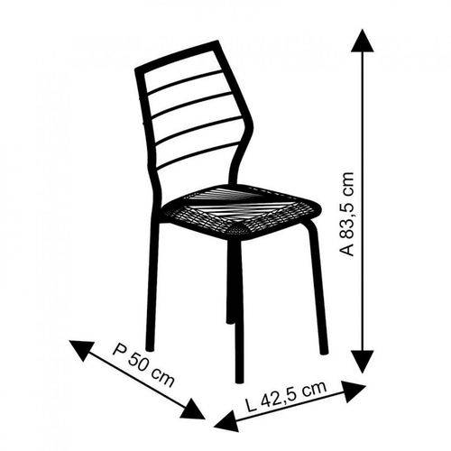 Tamanhos, Medidas e Dimensões do produto Conjunto de 2 Cadeiras 1716 Cromado – Carraro - Turquesa