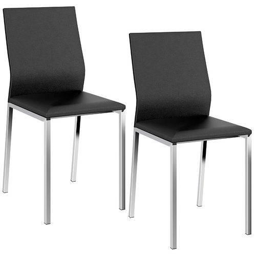 Tamanhos, Medidas e Dimensões do produto Conjunto de 2 Cadeiras 1804 Cromado – Carraro - Preto
