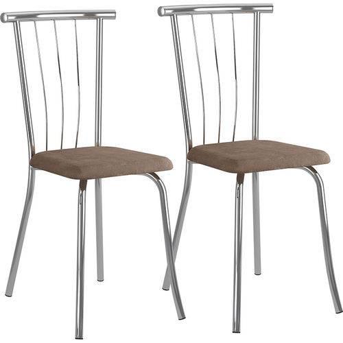 Tamanhos, Medidas e Dimensões do produto Conjunto de 2 Cadeiras Camurça 154 – Carraro - Camurça Conhaque