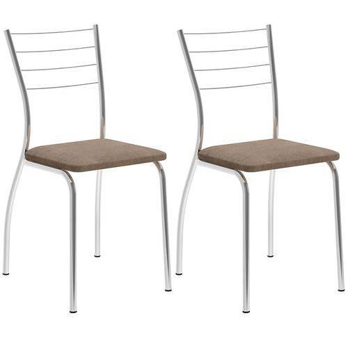 Tamanhos, Medidas e Dimensões do produto Conjunto de 2 Cadeiras Camurça 1700 – Carraro - Camurça Conhaque