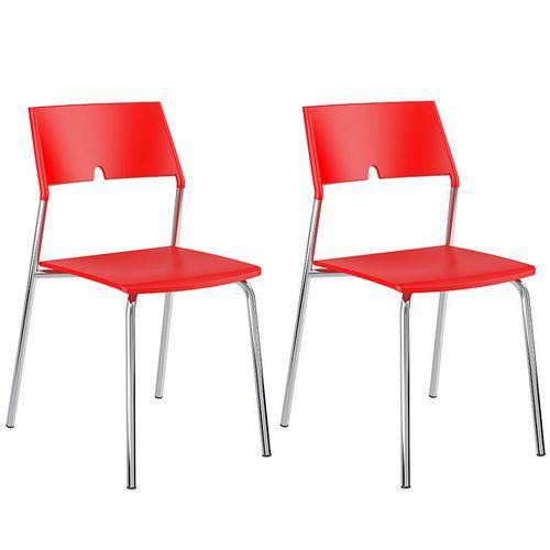 Tamanhos, Medidas e Dimensões do produto Conjunto de 2 Cadeiras Polipropileno 1711 – Carraro - Vermelho