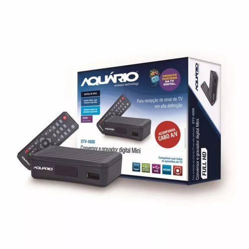 Tamanhos, Medidas e Dimensões do produto Conversor e Gravador Digital Tv Full Hd Aquário - Dtv-4000s