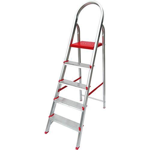 Tamanhos, Medidas e Dimensões do produto Escada de 5 Degraus Botafogo Lar&Lazer Suprema - Alumínio