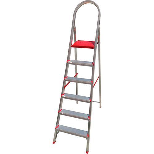 Tamanhos, Medidas e Dimensões do produto Escada de 6 Degraus Botafogo Lar&Lazer Suprema - Alumínio