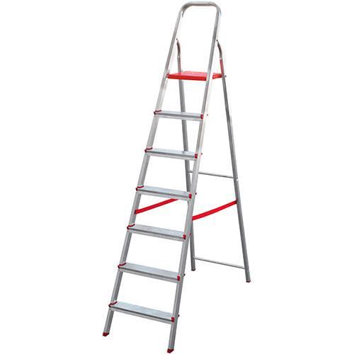 Tamanhos, Medidas e Dimensões do produto Escada de 7 Degraus Botafogo Lar&Lazer - Alumínio