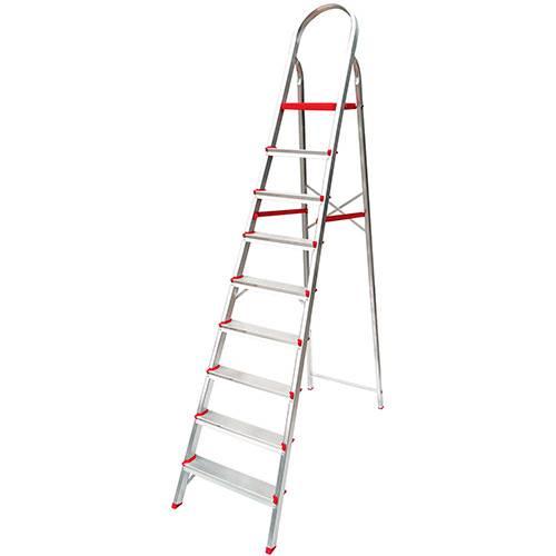 Tamanhos, Medidas e Dimensões do produto Escada de 9 Degraus Suprema Botafogo Lar&Lazer - Alumínio