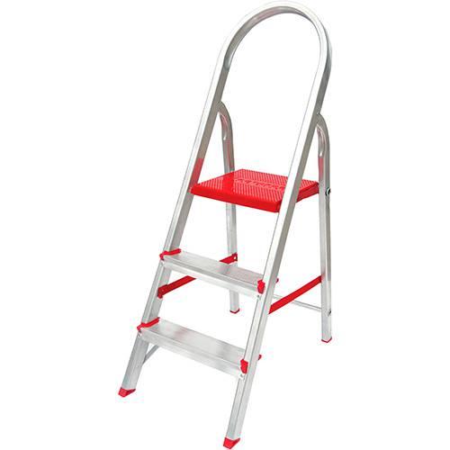 Tamanhos, Medidas e Dimensões do produto Escada de 3 Degraus Botafogo Lar&Lazer Suprema - Alumínio
