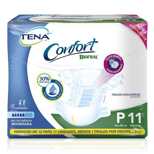 Tamanhos, Medidas e Dimensões do produto Fralda Bio Fral Confort P 11 Unidades
