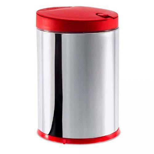 Tamanhos, Medidas e Dimensões do produto Lixeira Inox Brinox Decorline 4 Litros, Vermelha, 3050/212