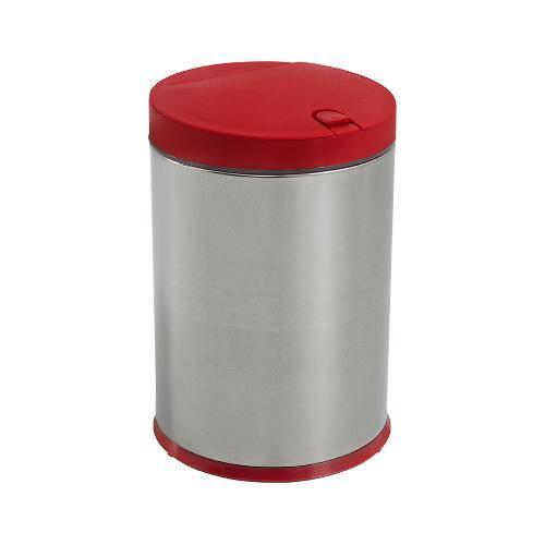 Tamanhos, Medidas e Dimensões do produto Lixeira Press Inox com Tampa Pequena 4Litros Vermelha
