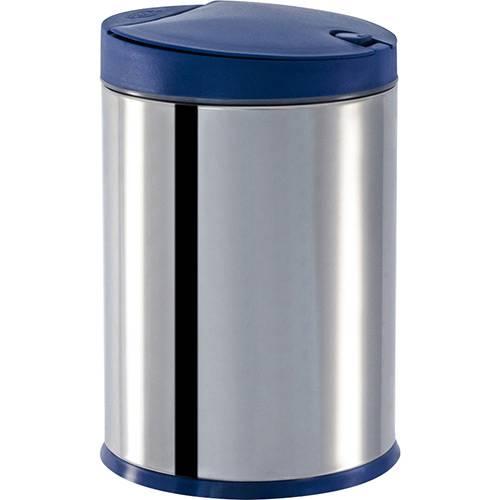 Tamanhos, Medidas e Dimensões do produto Lixeira Press Inox com Tampa PP Azul 4L - Brinox