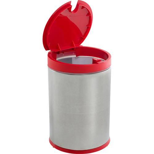 Tamanhos, Medidas e Dimensões do produto Lixeira Press Inox com Tampa PP Vermelho 4L - Brinox