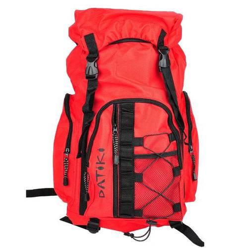 Tamanhos, Medidas e Dimensões do produto Mochila Camping Impermeável Tam G Cargueira Vermelho com 4 Bolsos Frontais