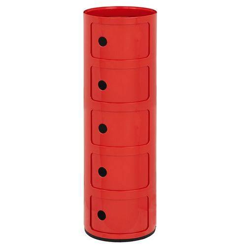 Tamanhos, Medidas e Dimensões do produto Módulo Componibili 5 Andares - Vermelho