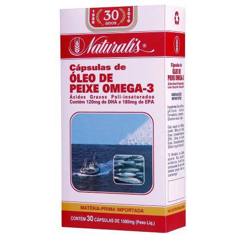Tamanhos, Medidas e Dimensões do produto Ômega-3 (1000mg) 30 Cápsulas