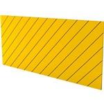 Cabeceira Queen Eugênia Amarelo Listras Diagonais - Orb