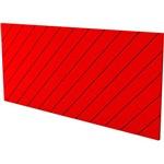 Cabeceira Queen Eugênia Vermelho Flash Listras Diagonais - Orb