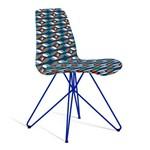 Cadeira Eames Loft Azul e Branco