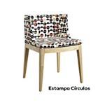Cadeira Senhorita Tecido Ór Design Preto